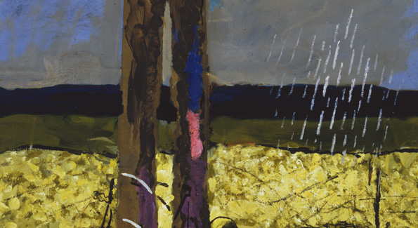 """""""THE SHOWER,"""" George Braque, oil on  canvas, 1952, the Phillips Collection."""