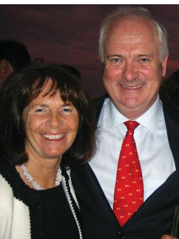 John and Finola Bruton say farewell to Washington. (Photo by Gail Scott)