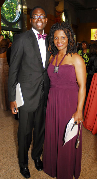 Andre Wells with Aba Kwawu at the National Museum of African Art Gala, which both helped to coordinate. (Photo by Kyle Samperton)