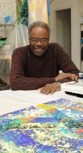 Artist Sam Gilliam at his studio.