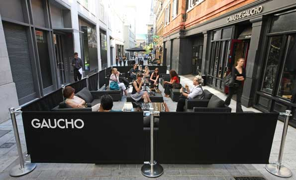 Tucked away on Swallow Street, Gaucho restaurant  offers an Argentine feast to fuel your shopping fire.