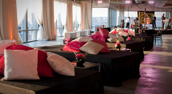 Syzygy's interiors for the 2009 Washington Life Young and the Guest List party. (Phote by Luke Christopher)