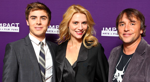 Zac Efron, Claire Danes, and Richard Linklater. (Photo by Tony Powell courtesy of IMPACT ARTS and FILM FUND)