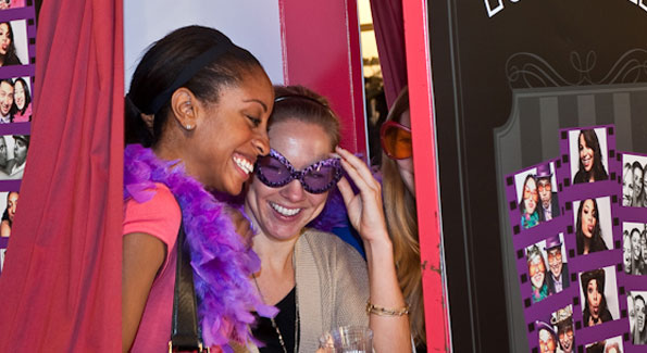 Guests enjoying the 'PoshBooth' at FotoWeek DC.Photograph with thanks to Mike Chepurin
