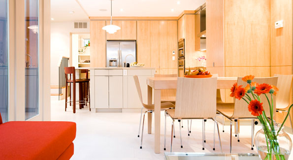 Example of a Modern Kitchen, Designed by Christian Zapatka, in a Historic Home.