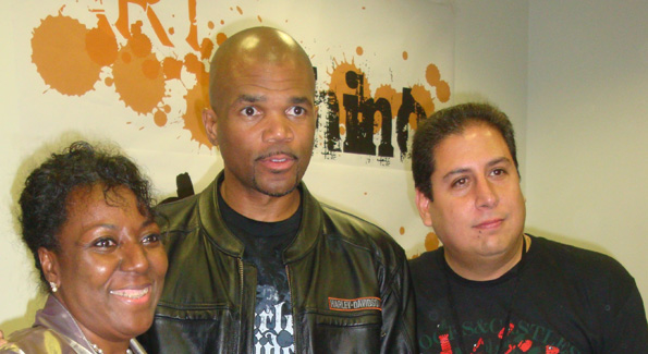 "Darryl ""D.M.C."" McDaniels and Art Whino Gallery Founder Shane Pomajambo Photograph by Alannah Wells"