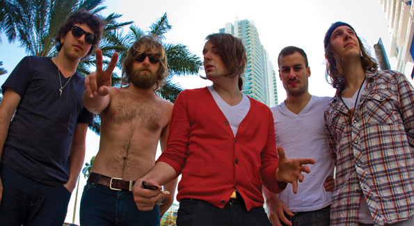 D.C. indie rock band, US Royalty (pictured with Ryan Wakeman), performed during Art Basel at the Red Room of the Shore Club. Photo by Dakota Fine.