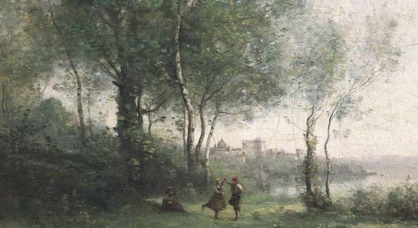 Camille Corot, Castel Gandolfo, 1855