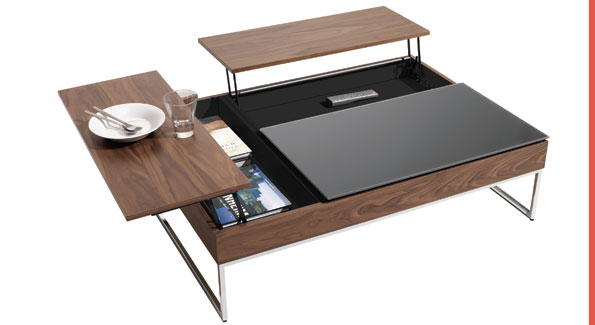 Functional coffee table ($999); Bo Concept, 3342 M St. NW, 202-3333-5656, www.boconcept.us