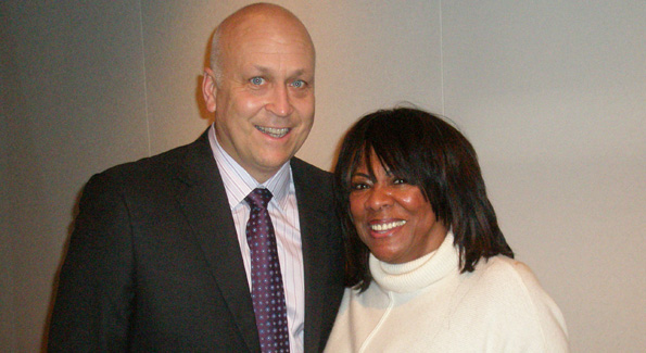 Cal Ripken, Jr., and Super Leader Executive Director Frankie Crosby (photo by Jane Hess Collins)
