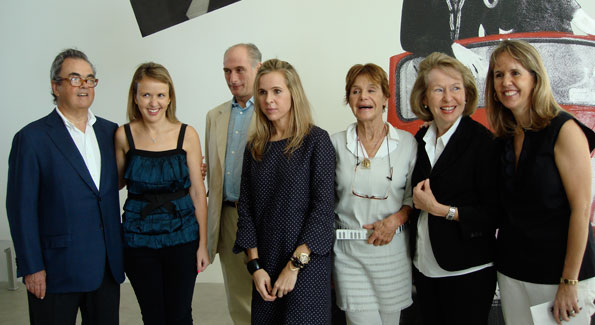 The De La Cruz family with Benjamin Picasso and Germana Ferrari-Matta