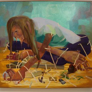 """Gravity Fanatic"" by Dana Schutz"