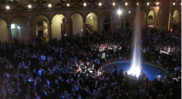 The event packed the National Building Museum.