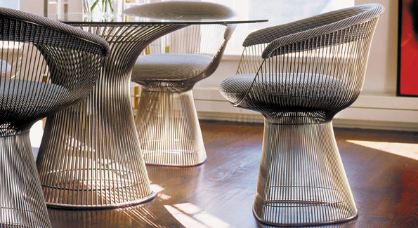 Planter dining table and chairs by Knoll ($7,700); Vastu, 1829 14th St. NW, 202-234-83444, www.vastudc.com