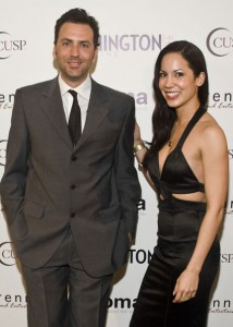 Show host and Washington Life executive and managing editor Michael Clements and Karin Tanabe
