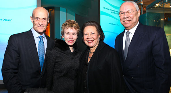 """Michael and Meryl Chertoff with Alma and General Colin Powell. """"Journey to Mecca"""" IMAX Gala Screening. Museum of Natural History. (photo by Tony Powell)"""