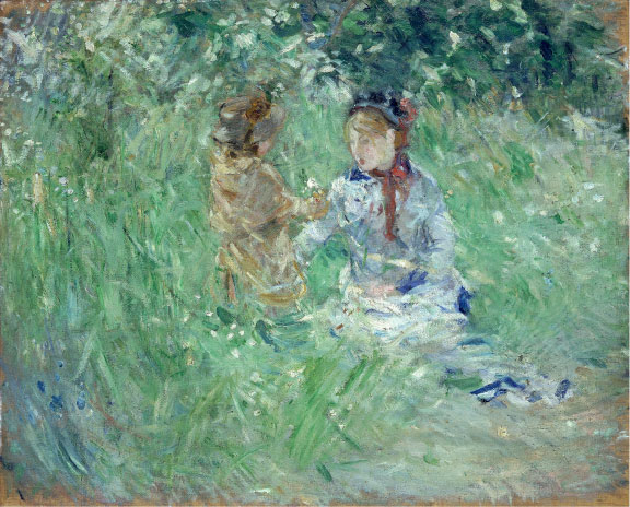 Berthe Morisot, At Bougival, 1882. Oil on canvas. National Museum of Wales; Miss Margaret S. Davies Bequest, 1963 (nmwa 2491). Courtesy American Federation of Arts.