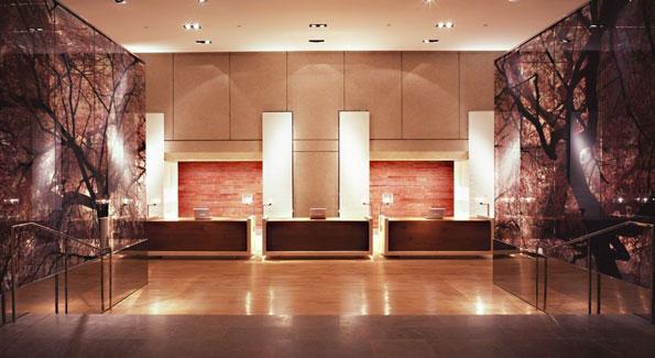 The lobby of the Park Hyatt Washington D.C.