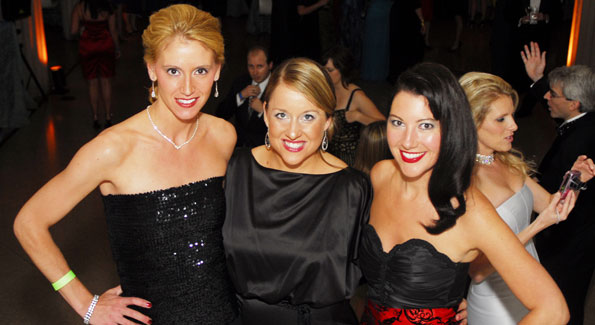Tess Hindman, Lindsay Plagma and Kristen Guiter at the Corcoran 1869 Society Fall Fête
