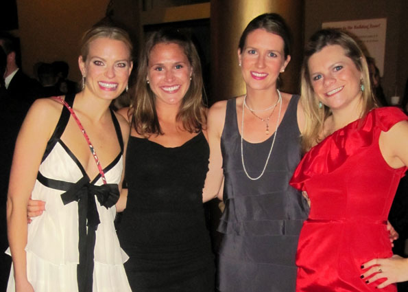 There was a great young crowd. Here are Mackenzie Cox, Emily Putze, Lauren Young and Olivia Kerr.