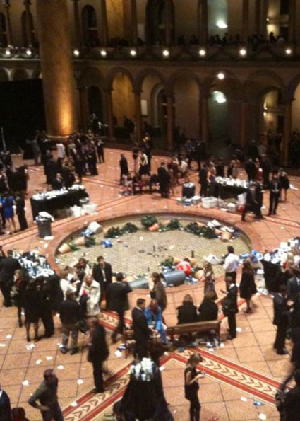 Luckily the National Building Museum was not damaged.