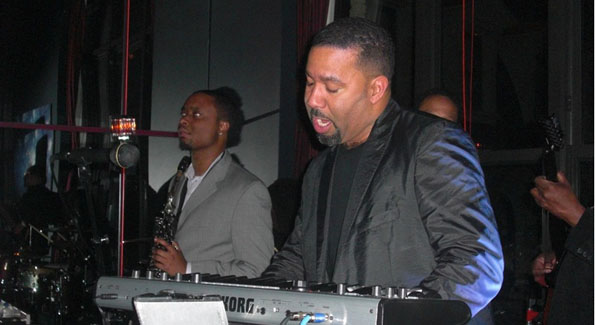 Marcus Johnson on New Years Eve at The W Hotel