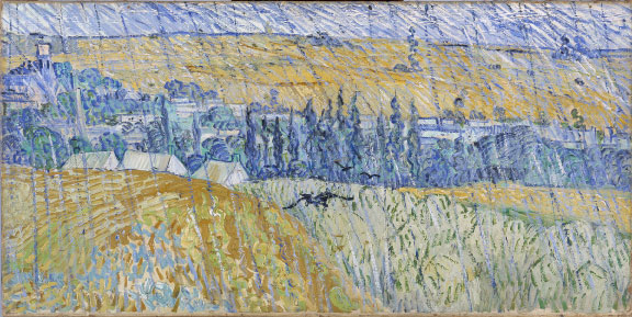 Vincent van Gogh, Rain–Auvers, 1890. Oil on canvas. National Museum of Wales; Miss Gwendoline E. Davies Bequest, 1951 (nmwa 2463). Courtesy American Federation of Arts.