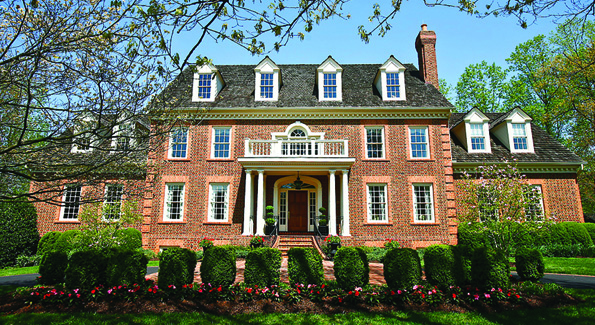 Reed and Bonita Harrison sold their neo-Georgian Colonial at 9413 Eagle Ridge Drive in Avenel for $2.8 million. (Photo by Tony Powell)