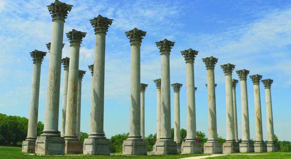 Columns in National Aboretum