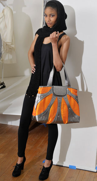 Cure your winter blues with a colorful tote from Blumpari.  Eco and Fair Trade Fashion Show at the Textile Museum.