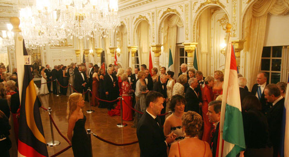 """One guest said that he receiving line at this year's International Red Cross Ball was """"longer than the one at the Shah of Iran's state dinner for Hailie Selassie."""""""