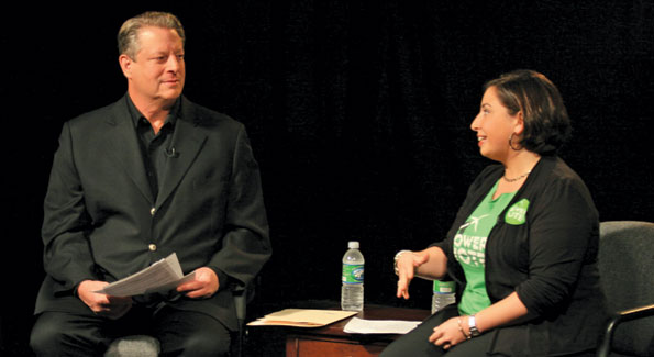 Jessy Tolkan, Executive Director of the Energy Action Coalition; Political Director at Green For All with Former Vice President Al Gore