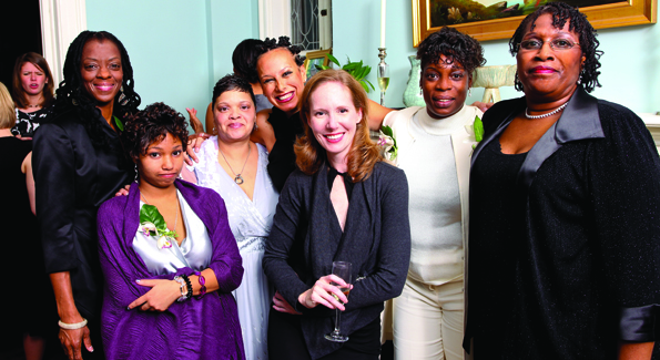 "Juleanna Glover Weiss (center) with the ""Mother Leaders"" of the Rebecca Project."
