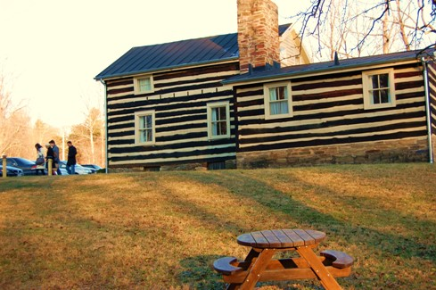 The log cabin which houses Paradise Springs Winery dates back to the 1800s and Lord Fairfax days. Photo by John Arundel