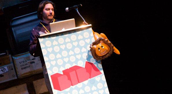 BIBA creator Peter Corbett. Big Ideas, Big Action conference. Photo By Jen Consalvo.