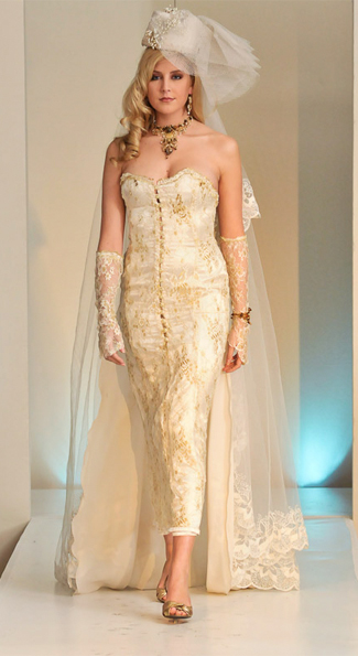 Miss D.C. 2009 wears a Madonna inspired wedding dress, veil and all.