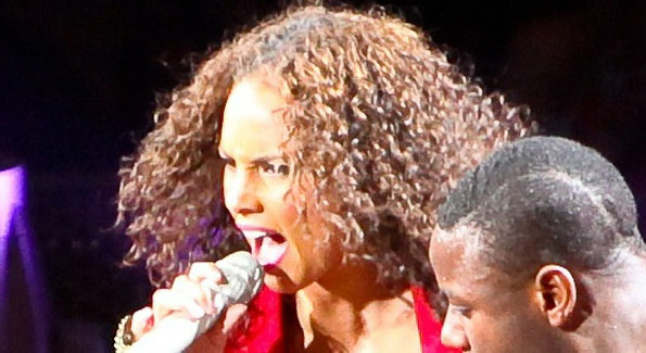 Alicia Keys live at the Verizon Center. (Photo by Tony Powell)