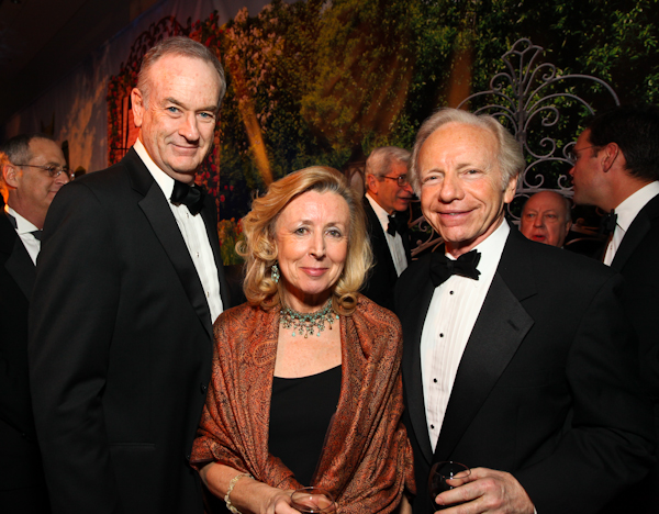 Bill O'Reilly, Hadassah Lieberman and Sen. Joe Lieberman.