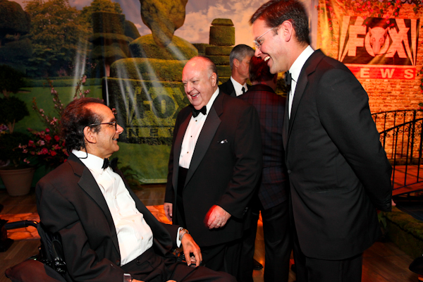 Charles Krauthammer and Roger Ailes share a lighter moment.