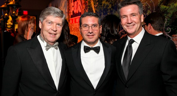 Dwight Schar, Dan Snyder and Bruce Allen at the Fox News Pre-Party at the Radio & Television Correspondents Dinner.