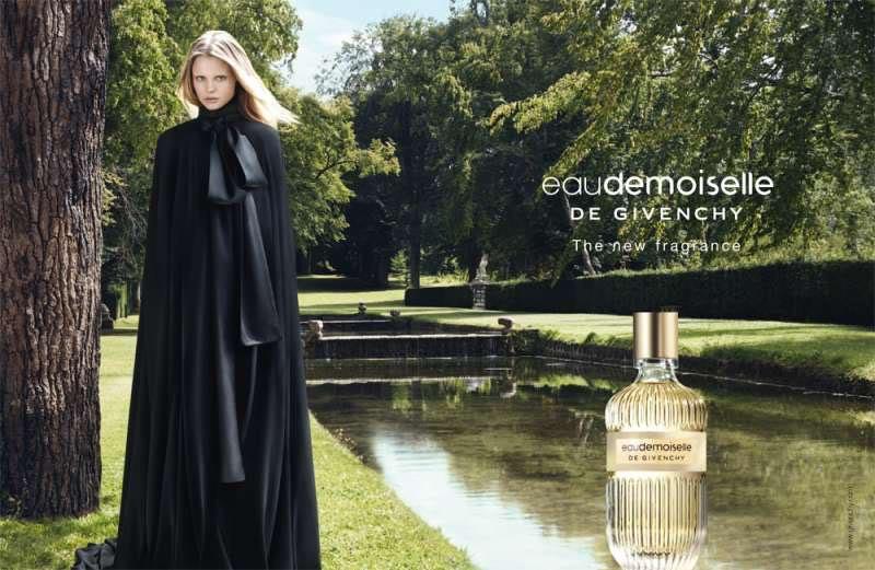 Magdalena Frackowiack shot by Liz Collins, Givenchy new Eau Demoiselle fragrance