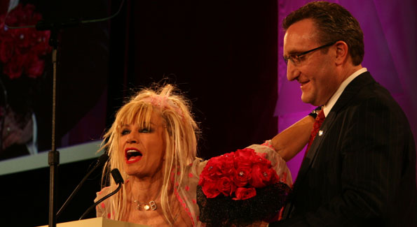 Betsey Johnson and Andrew Imparato. Photo by Dawn Lim.
