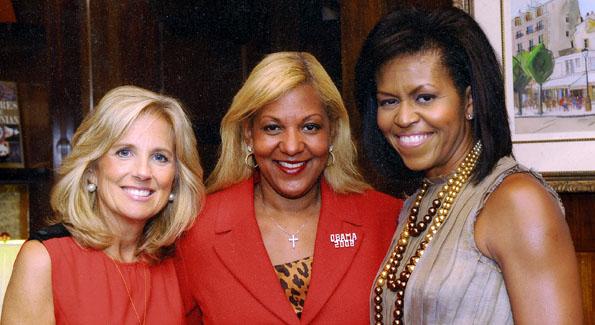 Second Lady Jill Biden, Raymone Bain, First Lady Michelle Obama