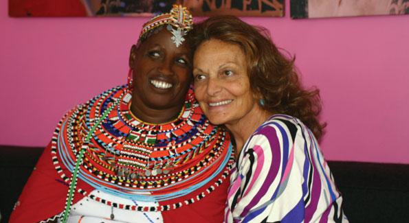 Rebecca Lolosoli and Diane von Furstenberg