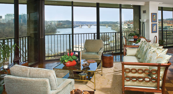 "The Watergate West apartment bought by Robert C. ""Bud"" McFarlane boasts expansive Potomac views."