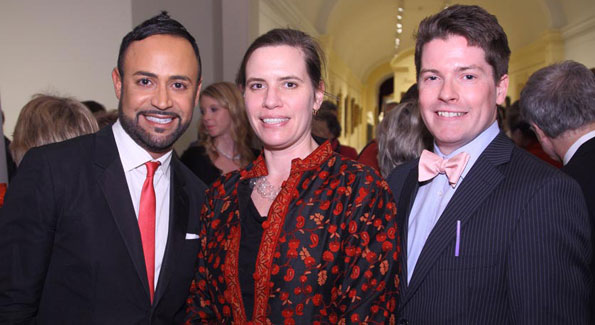 Nick Verreos, Karen LaMonte and Nicholas Bell at Artrageous, the Smithsonian American Art Museum's annual gala.