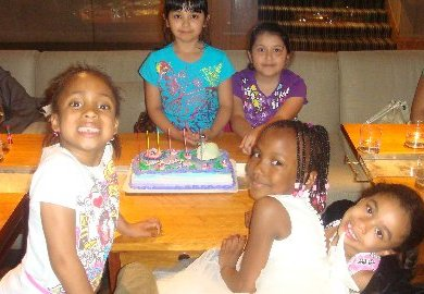 Aria Summers and friends celebrate her 6th birthday.