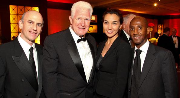 Mitchell Schear, VA Congressman Jim Moran, Valerie Santos, Neil Albert. Photo by Tony Powell.