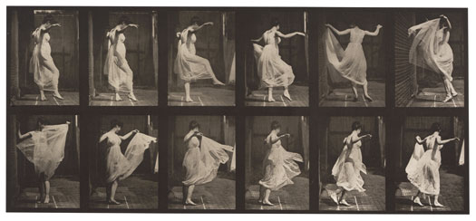 Eadweard Muybridge, Dancing (fancy.) (Movements. Female). Plate 188, 1887. Corcoran Gallery of Art, Washington, D.C., Museum Purchase, 8º7.7.188.