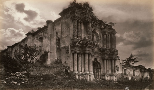 Eadweard Muybridge, Ruins of a Church, Antigua, Guatemala, 1875. Albumen silver print. Collection Centre Canadien d'Architecture/ Canadian Centre for Architecture, Montreal.